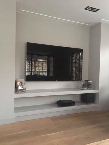 Nicolle tv planken in nis (mdf afgelakt)