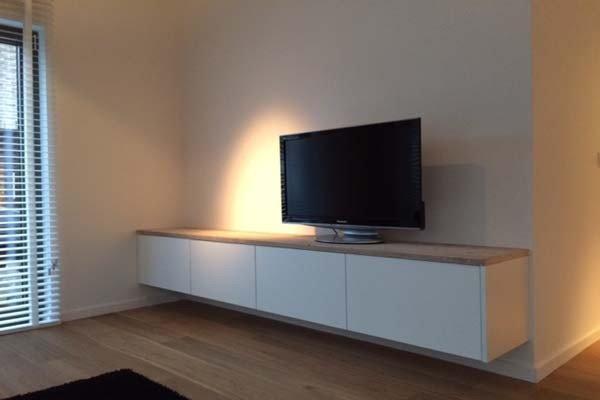 Tv Kast Zwevend : Tvkast karlijn zwevend meubel en maatwerk