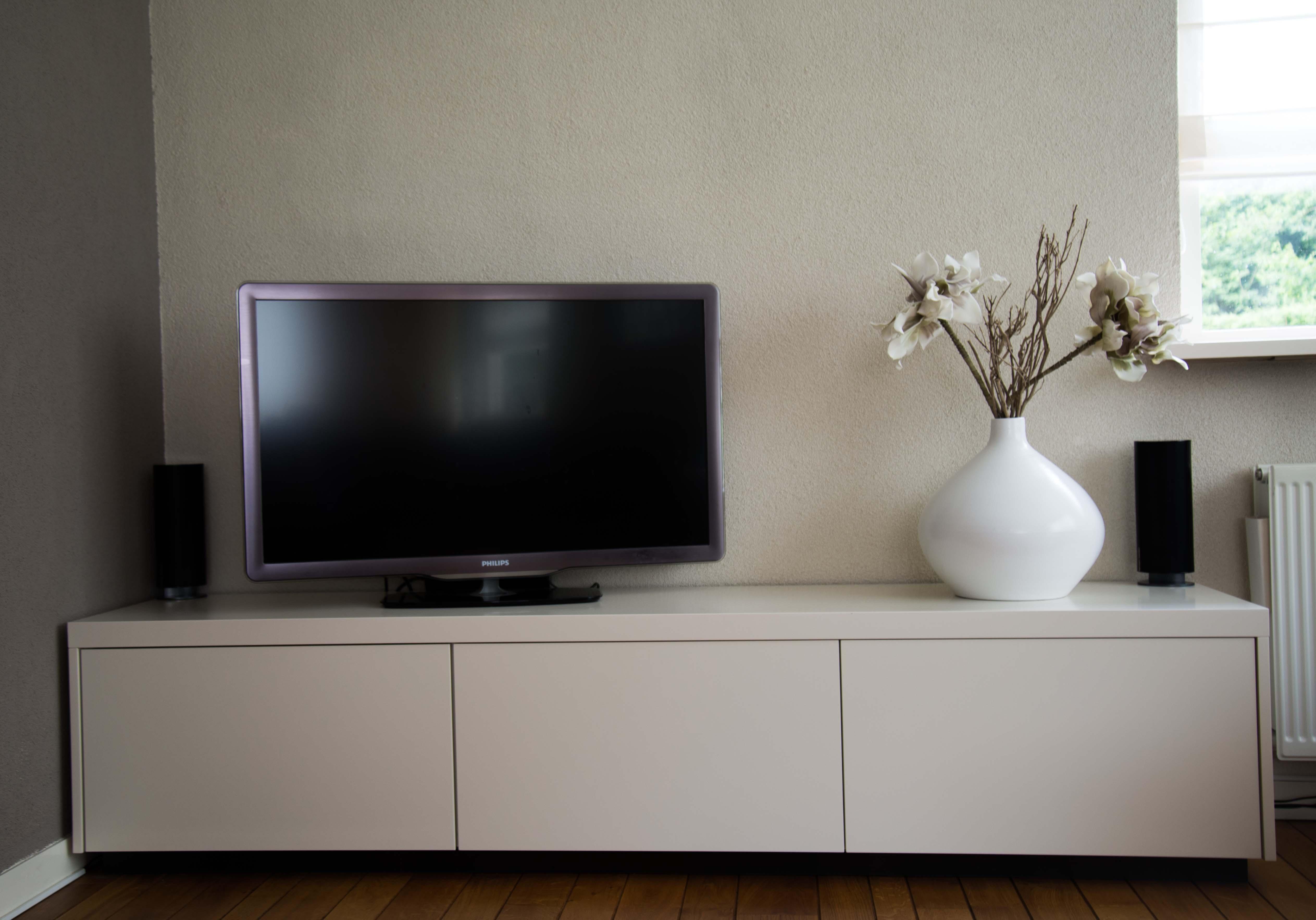 Witte Tv Kast Met Houten Blad.Maatwerk Witte Tv Kast Denise Kerkdriel Meubel Maatwerk
