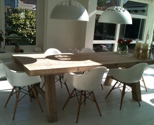 Nieuwe tafel maat