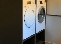 Wasmachine in maatwerk kast