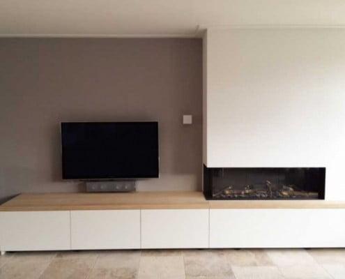 TV kast met ingebouwde open haard