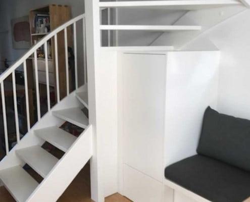 Open trap in woonruimte
