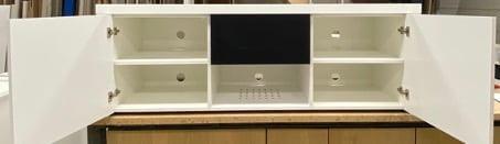 maatwerk TV meubel met ventilatie